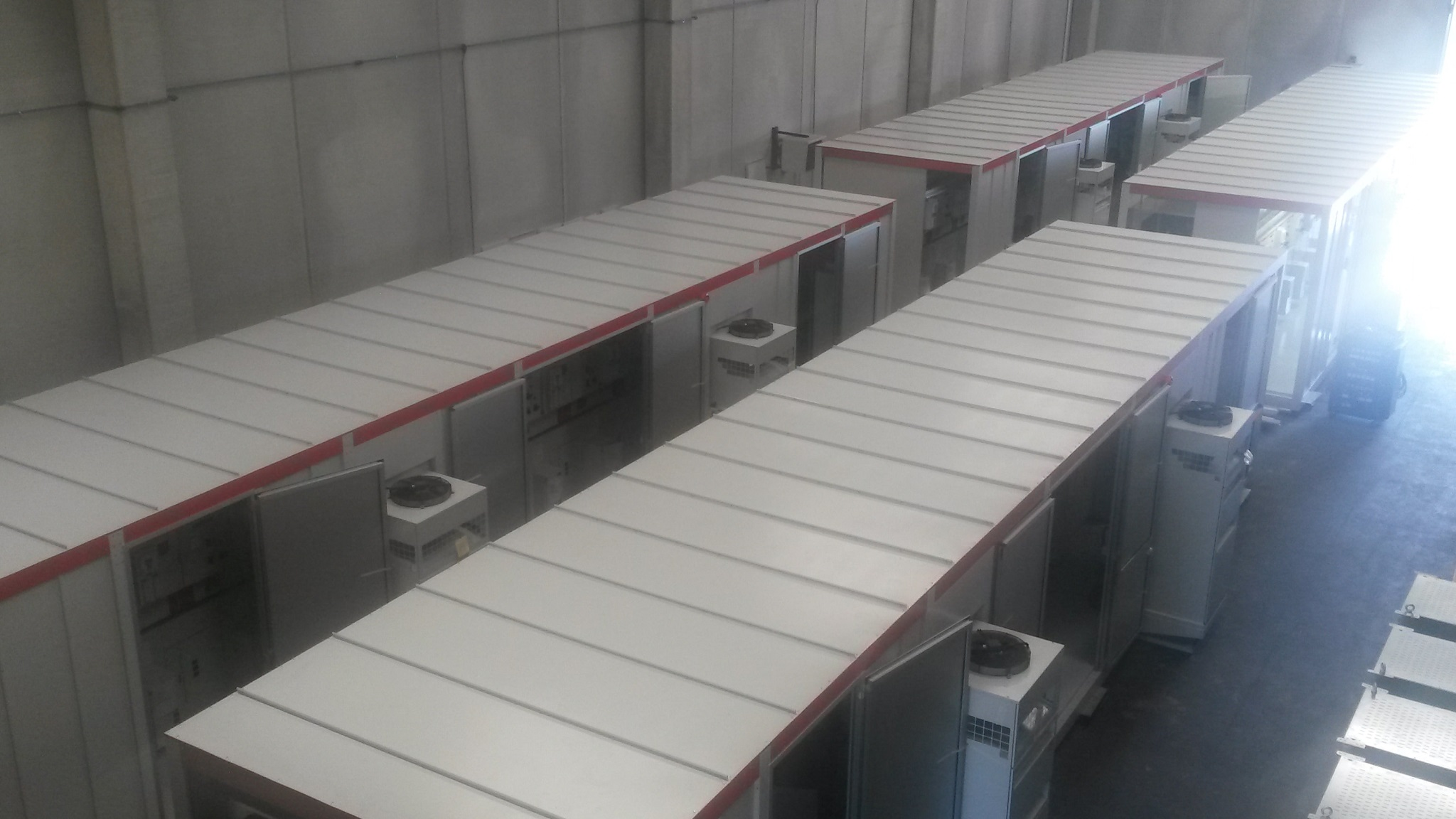 E-house compact substations, containing AIS air-insulated MV medium-voltage switchgear panels for Tunisia, north Africa
