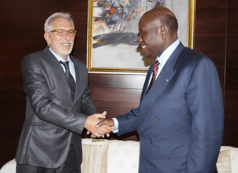 Carlo Rovelli and Ivorian Minister