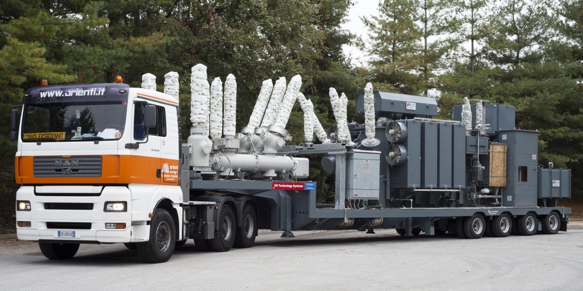 power trnsformer trafo mounted on trailer, Albania, Europe