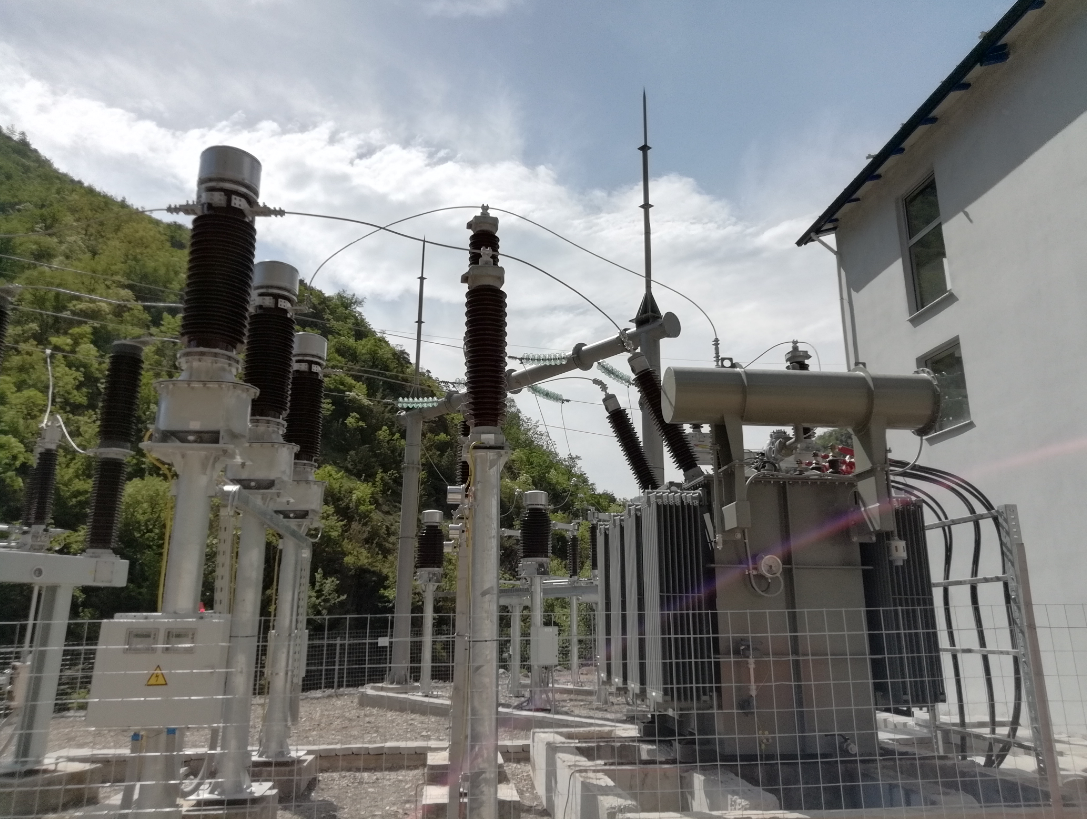 HV electrical substation for Albania, Europe