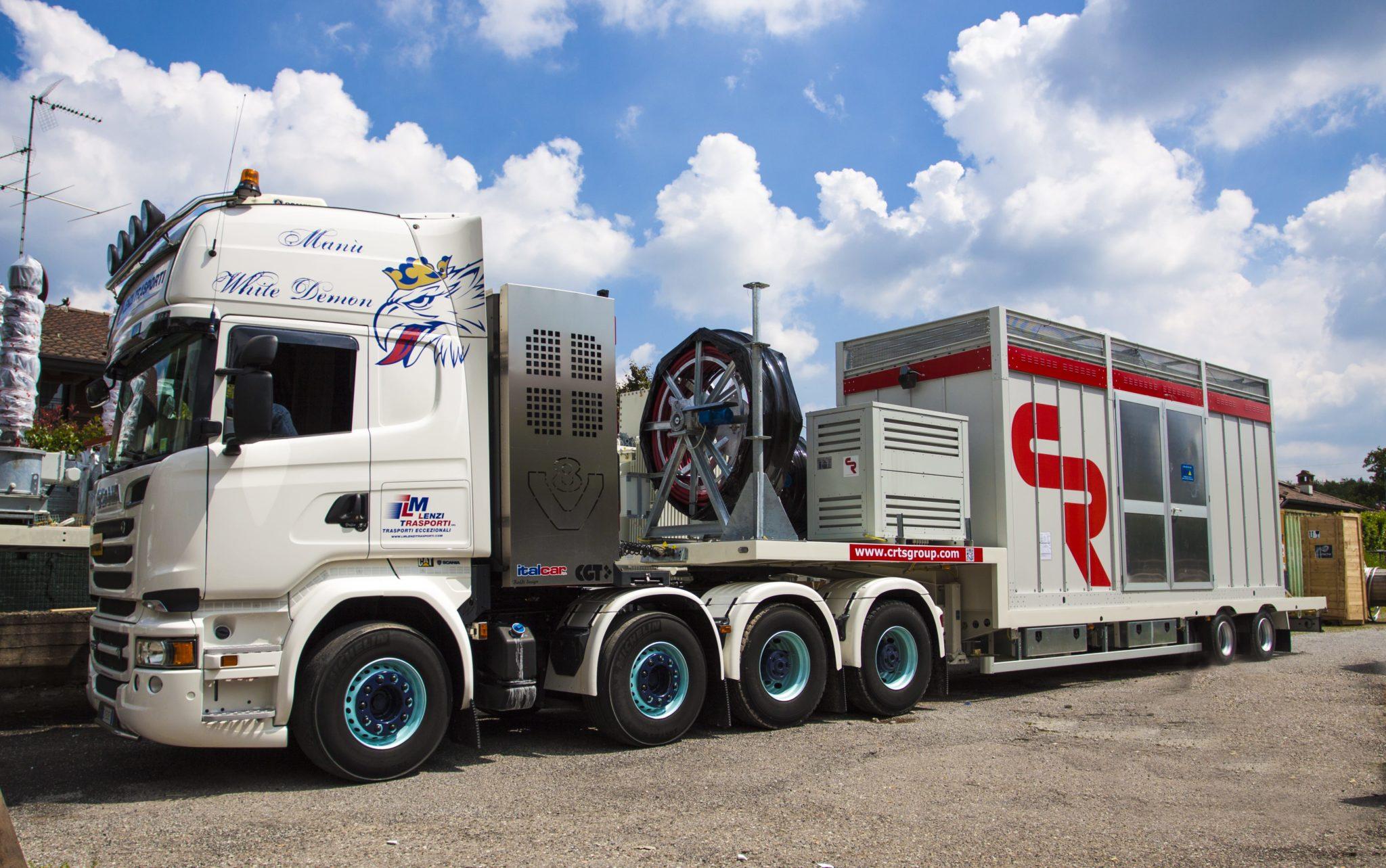 sottostazione mobile trasporto su ruota, per Albania, Europa