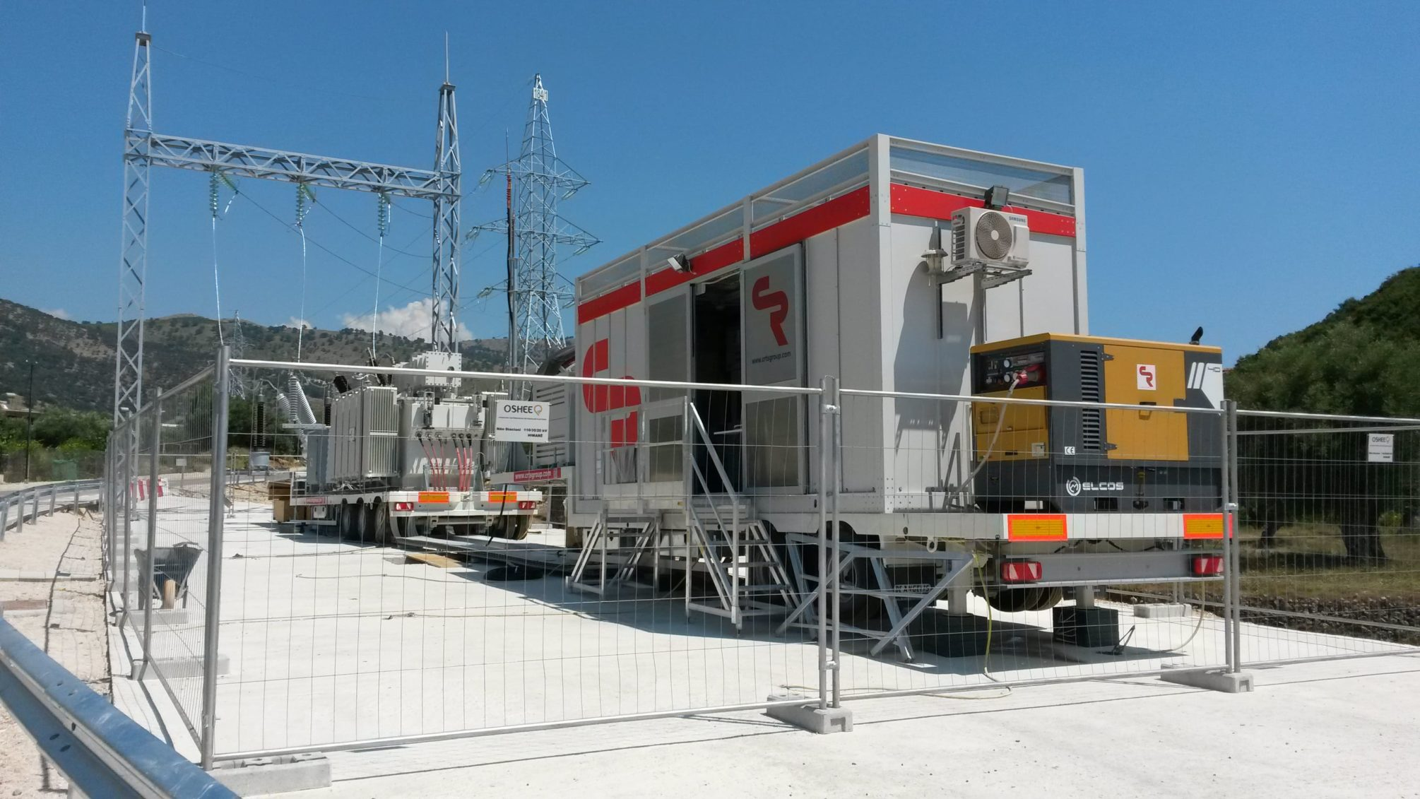 Mobile substation in Albania, Europe