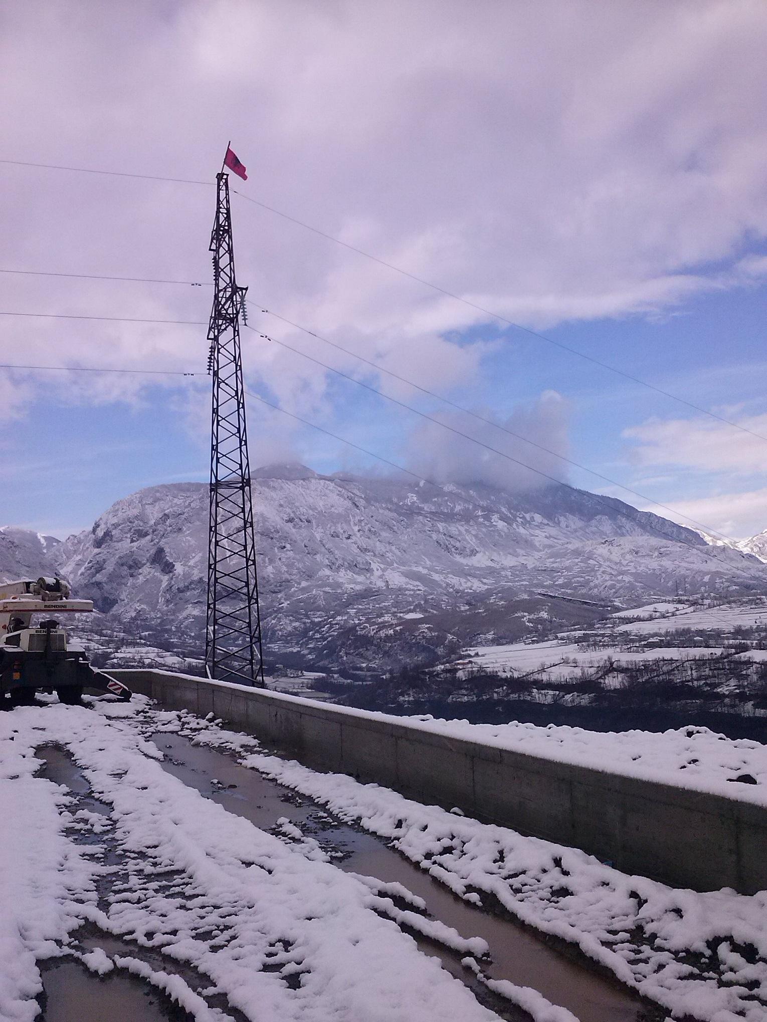 Subestación eléctrica para el suministro de electricidad Albania
