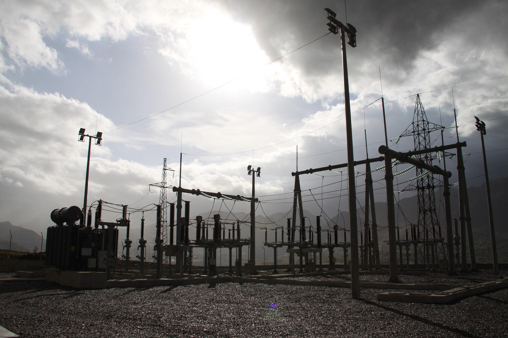 Subestación eléctrica AT en Tirana