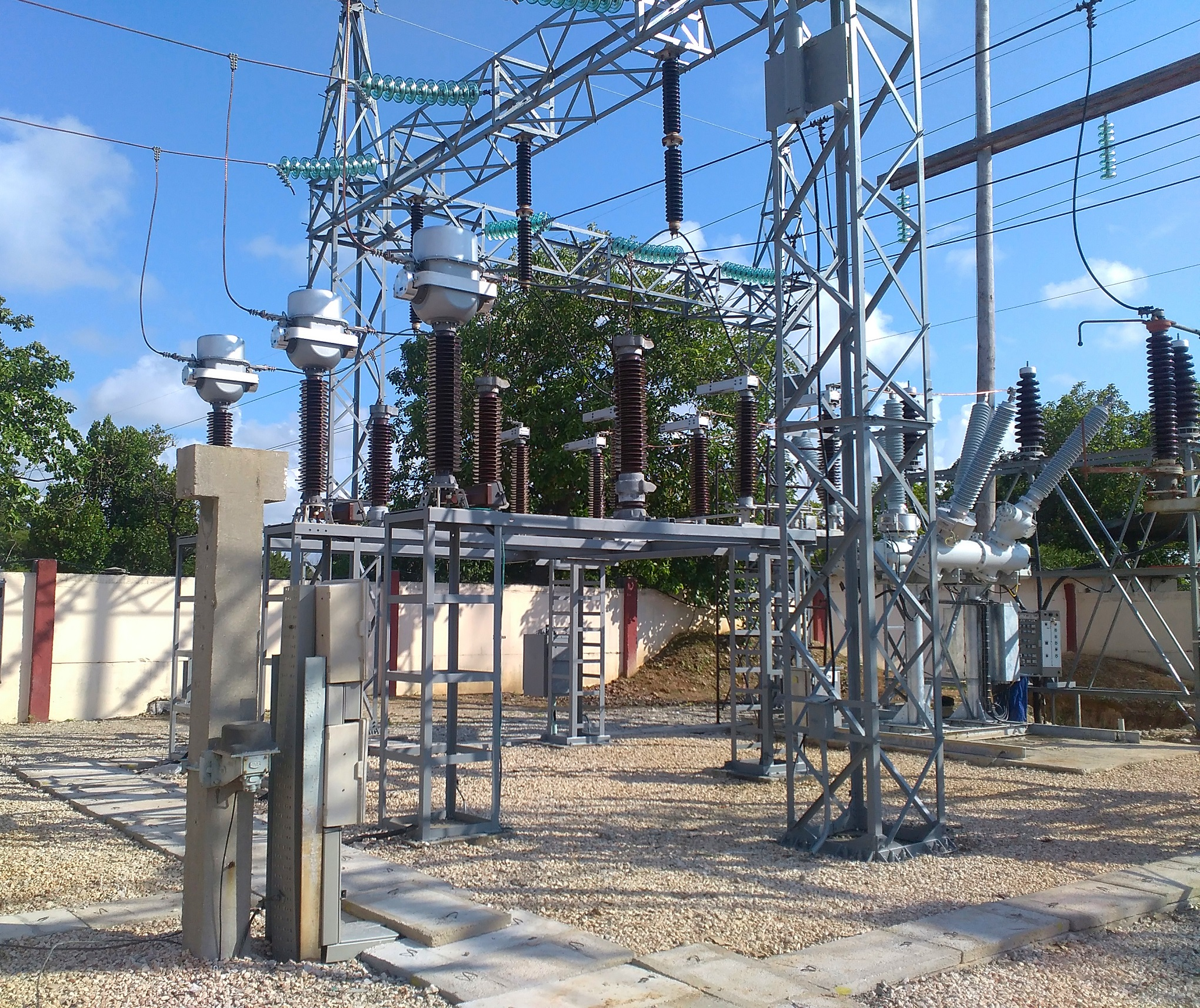 Electrical substation in Cuba