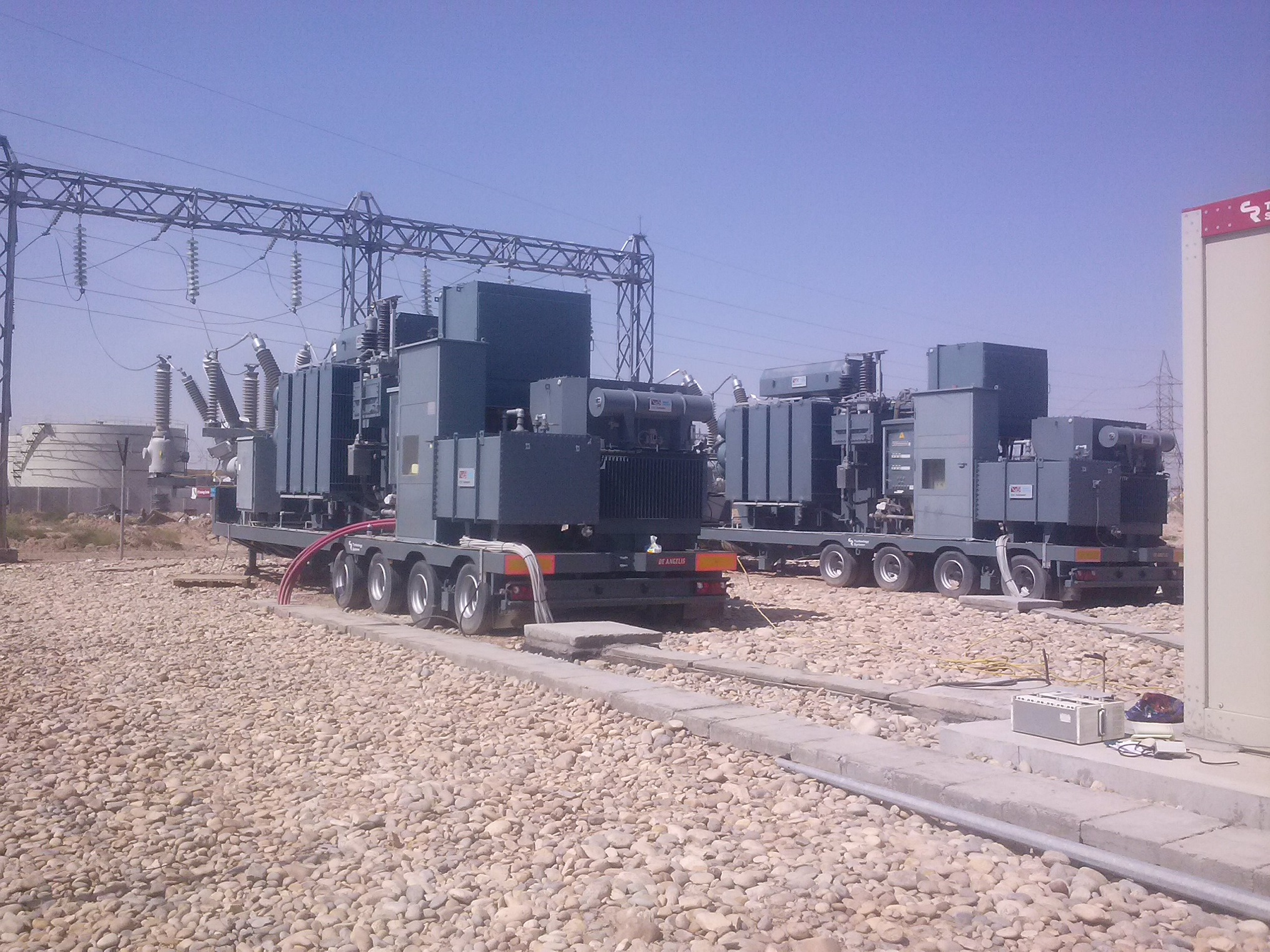 two mobile substations for Iraq