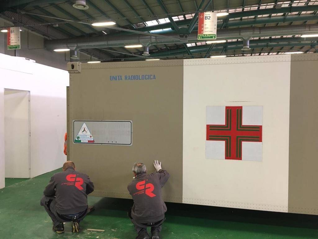 C.R. Technology Systems collaborates with ANA, Civil Protection and other  private companies in Bergamo to construct a field hospital for coronavirus patients.