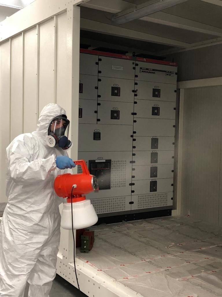 Procedure di sanificazione delle cabine elettriche per prevenire il diffondersi del Covid-19