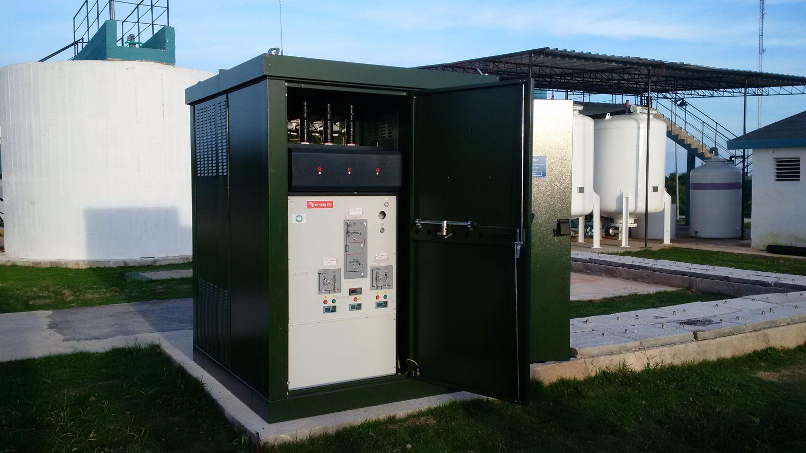 cabina eléctrica para la distribución secundaria