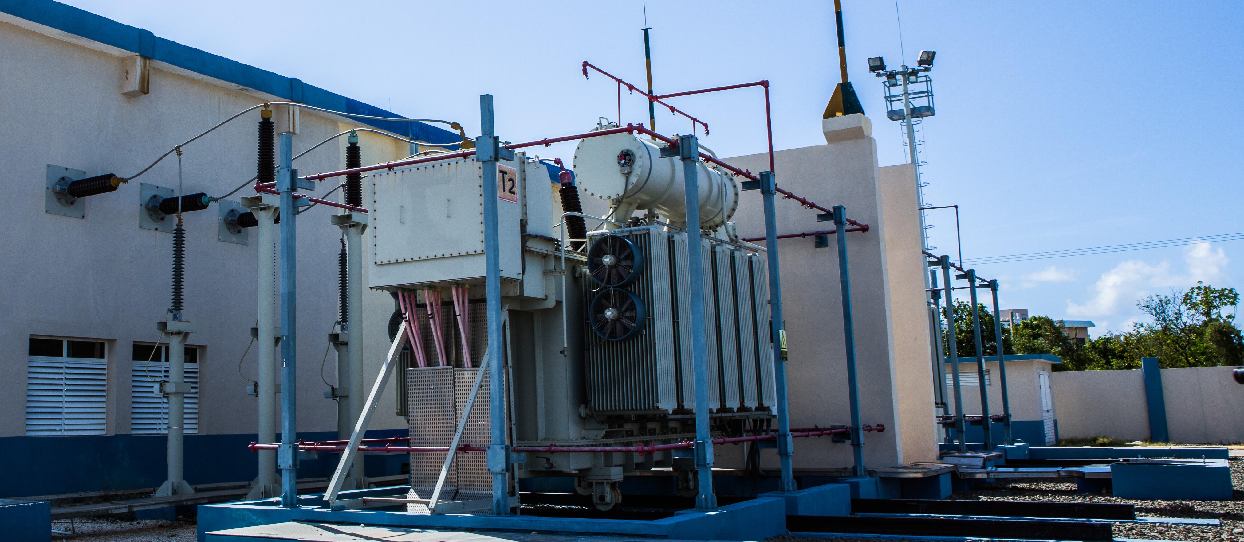 Subestación Electrica de alta tensión AT