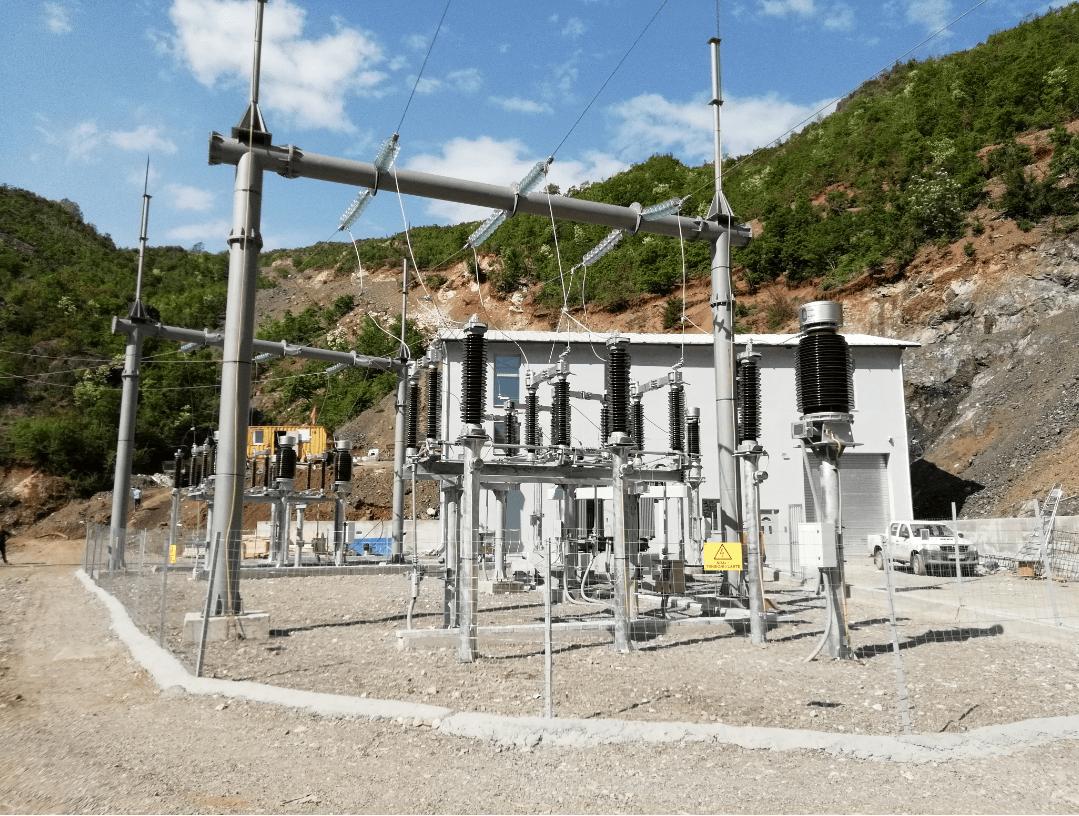 Subestación Electrica de alta tansión
