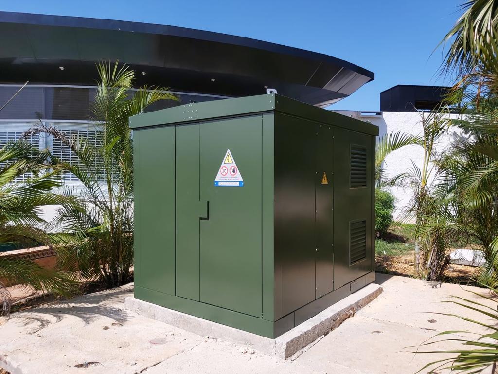Compact substations new Varadero blouevard, Cuba.