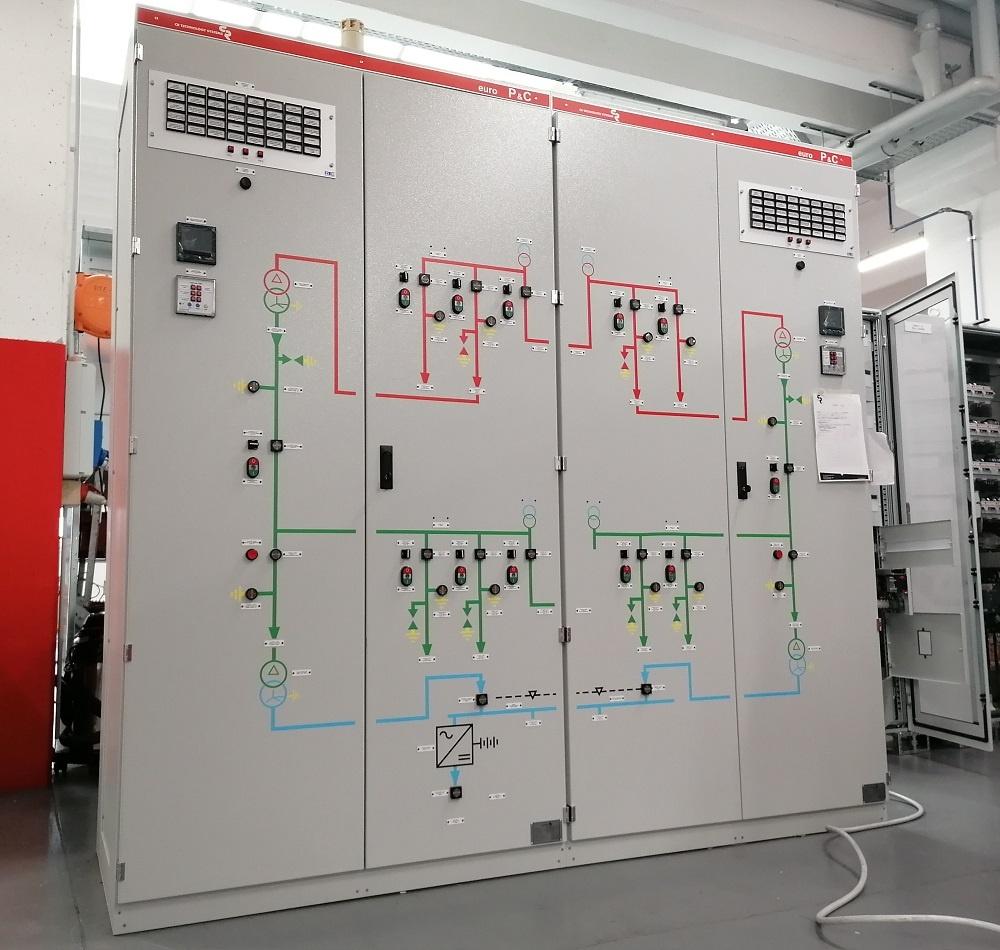 pannelli di bassa tensione BT per il controllo della sottostazione elettrica di Pesquero (Cuba)