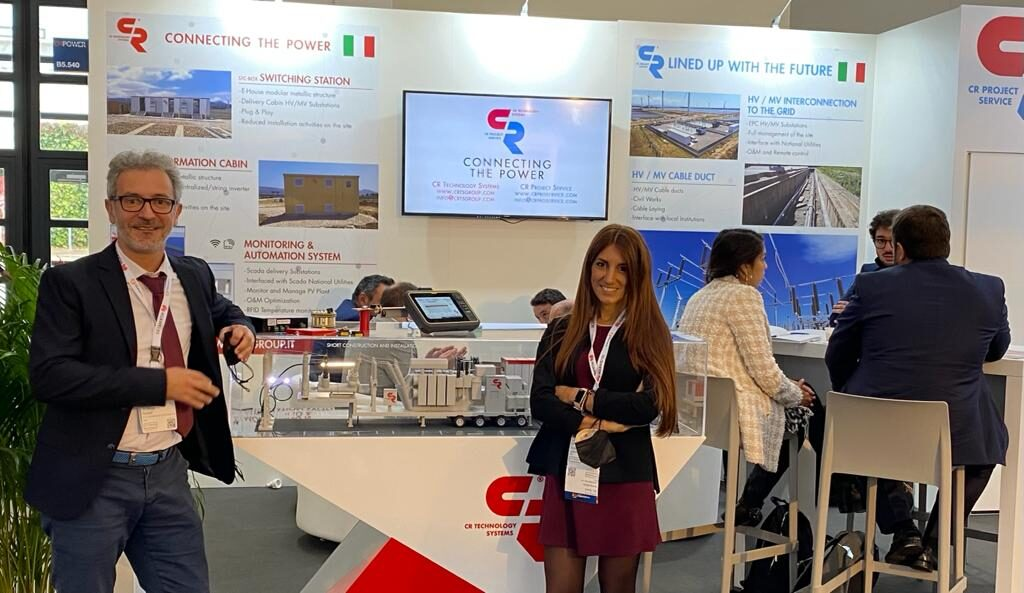 CR Technology Systems booth at EMpower intersolar fair 2021
